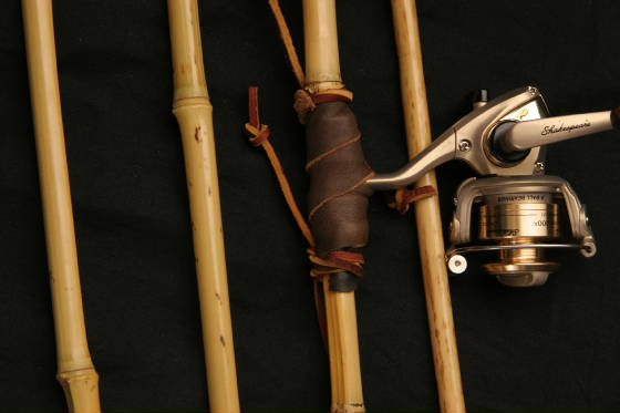 Hook 39 n 39 bullet natural fishing poles just a pretty stick for Bamboo fishing poles