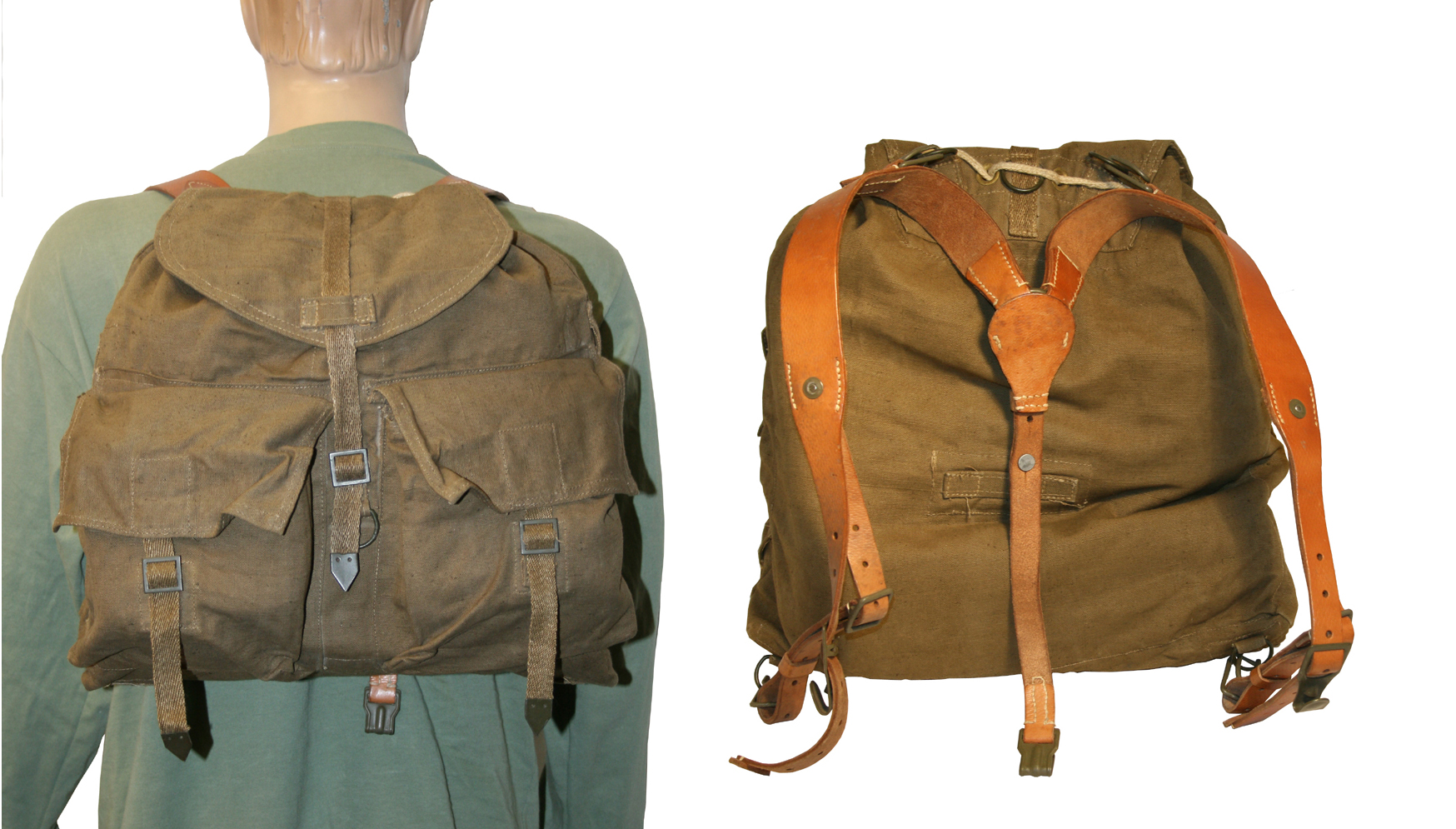 Military Surplus Canvas Rucksack- Fenix Toulouse Handball